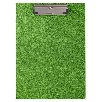 Beautiful green grass texture from golf course clipboard