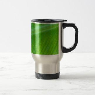 Beautiful Green Leaf Macro Photo Mugs