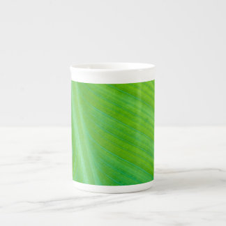 Beautiful Green Leaf Macro Photo Bone China Mugs