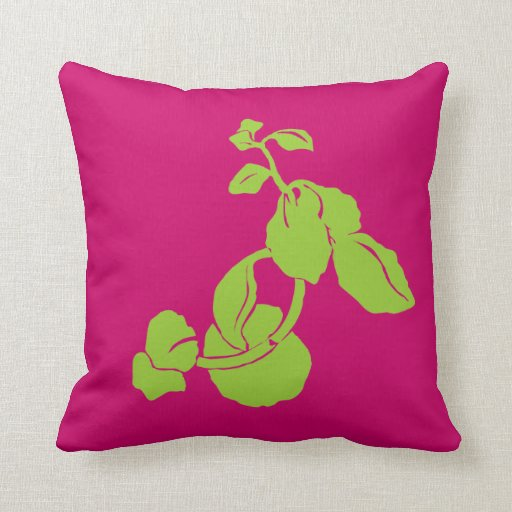 beautiful green leaves American MoJo Pillow