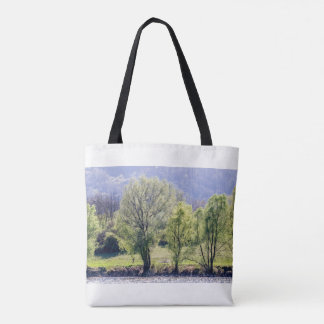 Beautiful Green Trees Tote Bag