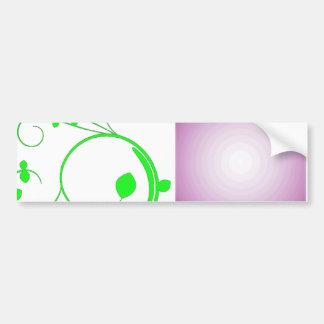 Beautiful Greenish swirls and purple texture Bumper Stickers