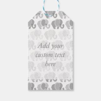 Beautiful Grey Elephants Baby Gift Tags