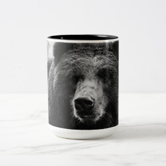 Beautiful Grizzly Bear Two-Tone Coffee Mug