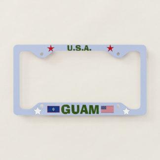 Beautiful Guam Metal License Plate Frame