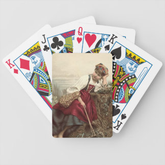 Beautiful Gypsy Girl at rest Bicycle Playing Cards