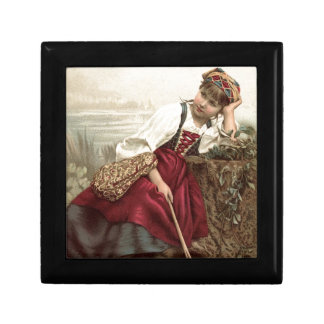 Beautiful Gypsy Girl at rest Gift Box