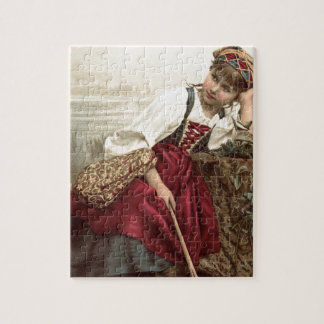 Beautiful Gypsy Girl at rest Jigsaw Puzzle