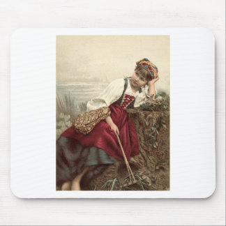 Beautiful Gypsy Girl at rest Mouse Pad