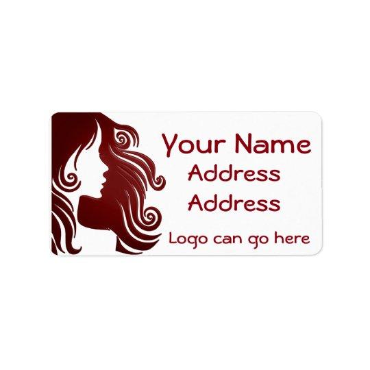 Beautiful hair stylist address label