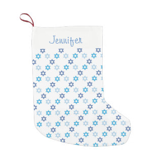 Beautiful Hanukkah Jewish Theme Star of David Small Christmas Stocking