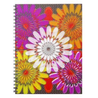 Beautiful HAPPY CHAKRA Sunflower Greetings GIFTS Spiral Notebooks