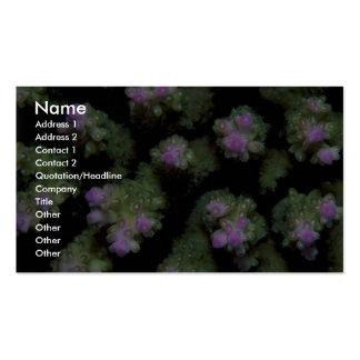 Beautiful Hard coral polyps Business Card Templates