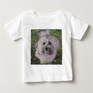 Beautiful Havanese Dog Art Baby T-Shirt