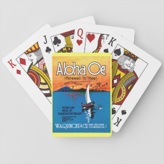 Beautiful Hawaii: ALOHA OE Farewell to Thee Playing Cards