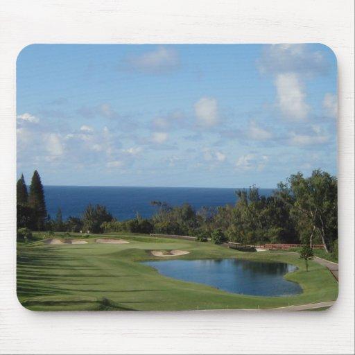 Beautiful Hawaii golf course Mouse Mat