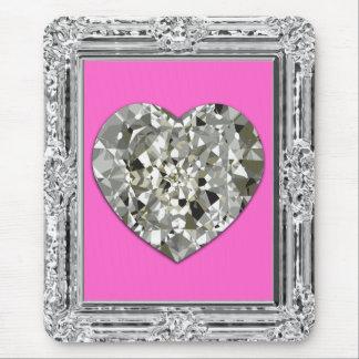 Beautiful Heart Of Diamonds Mousepad Mouse Pads