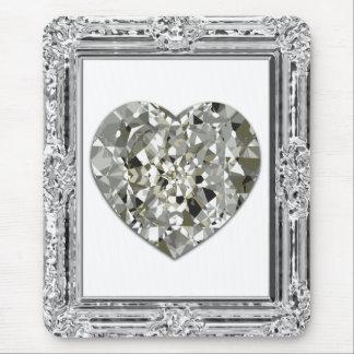 Beautiful Heart Of Diamonds Mousepad Mousepads