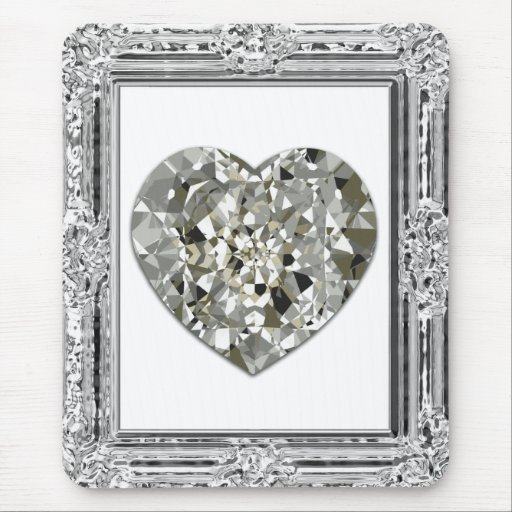 Beautiful Heart Of Diamonds Mousepad Mousepads