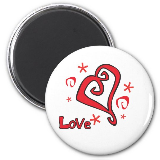 Beautiful Heart Valentines Day Design Magnet