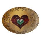 Beautiful hearts porcelain serving platter
