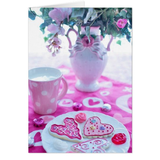 Beautiful Hearts Valentine Table Settings Card