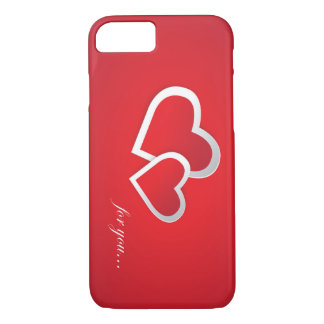 Beautiful Hearts With Text for lovers iPhone 8/7 Case