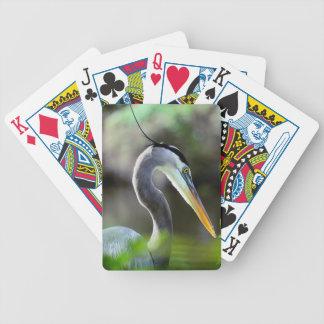 Beautiful Heron Bicycle Playing Cards