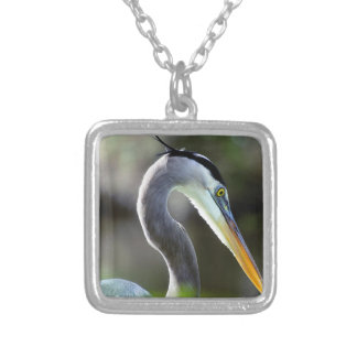 Beautiful Heron Silver Plated Necklace