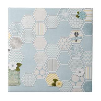 Beautiful Hexagram Flower Pattern Unique Ceramic Tile