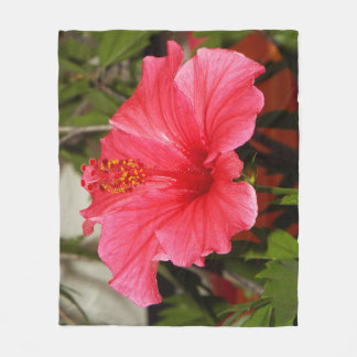 Beautiful Hibiscus fleece blanket