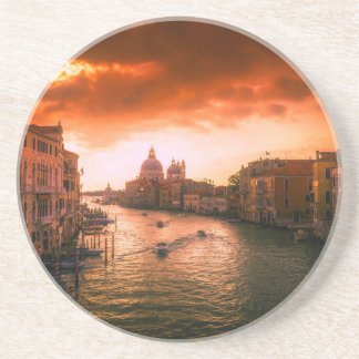 Beautiful historic venice canal, italy coaster