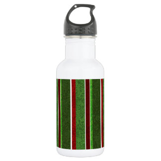 Beautiful Holiday Red and Green Stripe Pattern 532 Ml Water Bottle