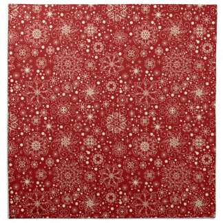 Beautiful Holiday Sparkle Snowflake Pattern Napkin