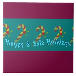 Beautiful Holiday Wishes Ceramic Tile