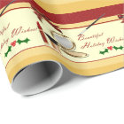 Beautiful Holiday Wishes Makeup Wrapping Paper