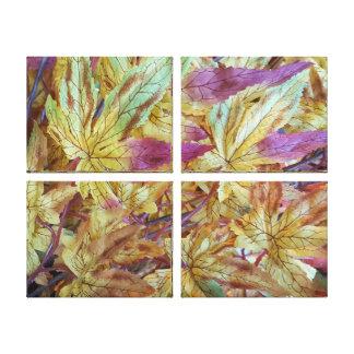 Beautiful Home Decor Leaf Designed Pattern Canvas Print