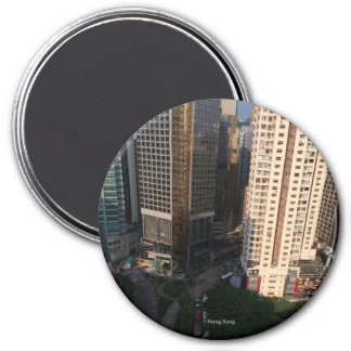 Beautiful Hong Kong - Large, 3 Inch Round Magnet