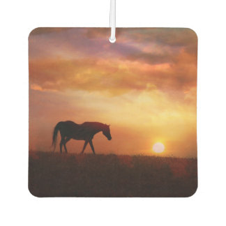 Beautiful Horse and Sunrise Car Air Freshener