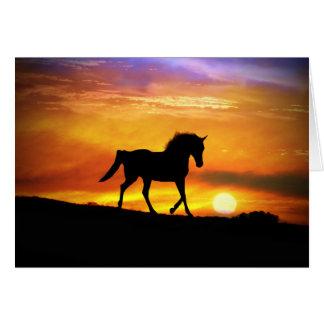 Beautiful Horse Art Blank Note Card