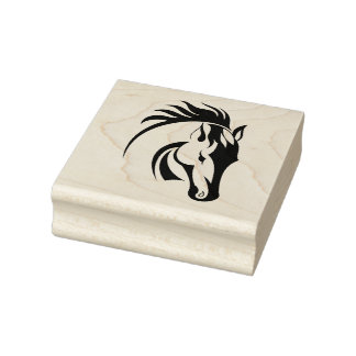 Beautiful Horse Design Wooden Stamp