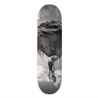 Beautiful horse drinking water 20.6 cm skateboard deck