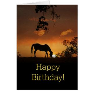 Beautiful Horse Happy Birthday Card