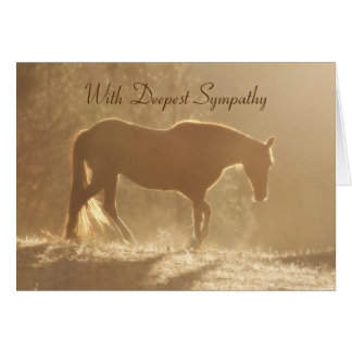 Beautiful Horse in Light Sympathy Loss of Horse Card