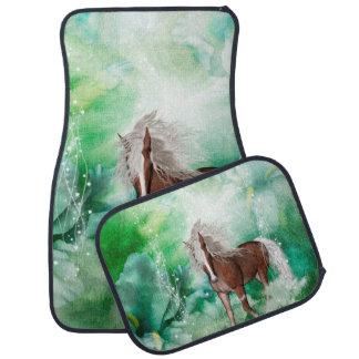 Beautiful horse in wonderland car mat