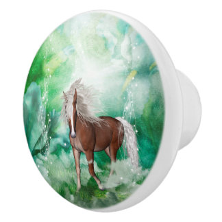 Beautiful horse in wonderland ceramic knob