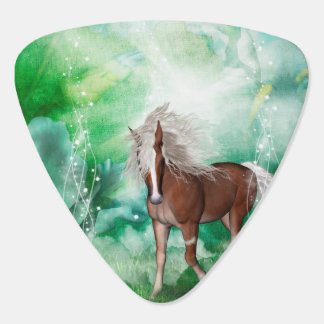 Beautiful horse in wonderland guitar pick