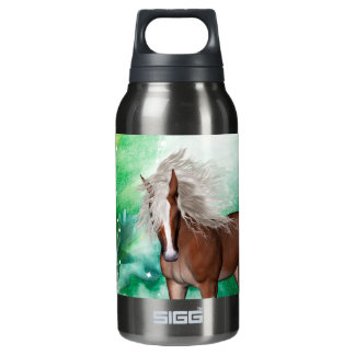 Beautiful horse in wonderland insulated water bottle