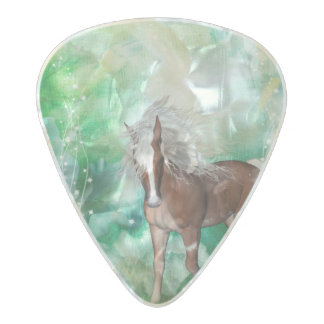 Beautiful horse in wonderland pearl celluloid guitar pick