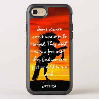 "Beautiful Horse Rearing ""Some Women"" Quote OtterBox Symmetry iPhone 8/7 Case"